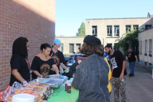 Nubia's Place Cooperative Catering for Fight for $15 Rally in the fall of 2015