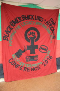 Black Power, Black Lives and Pan-Africanism Conference Banner June 16, 2016.