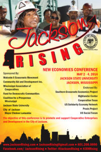 The primary promotional material for the Jackson Rising: New Economies Conference, what started it all.