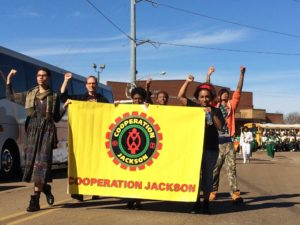 Cooperation Jackson members marching at the annual MLK parade in January 2016.